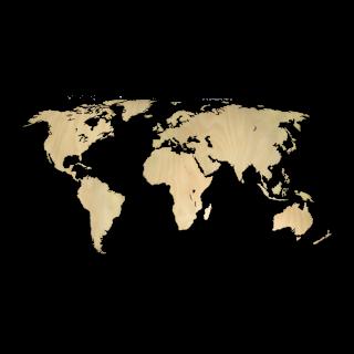 Dřevěná mapa světa