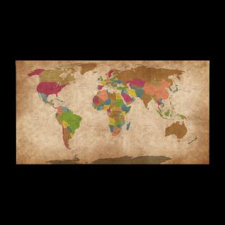 Retro politická mapa světa